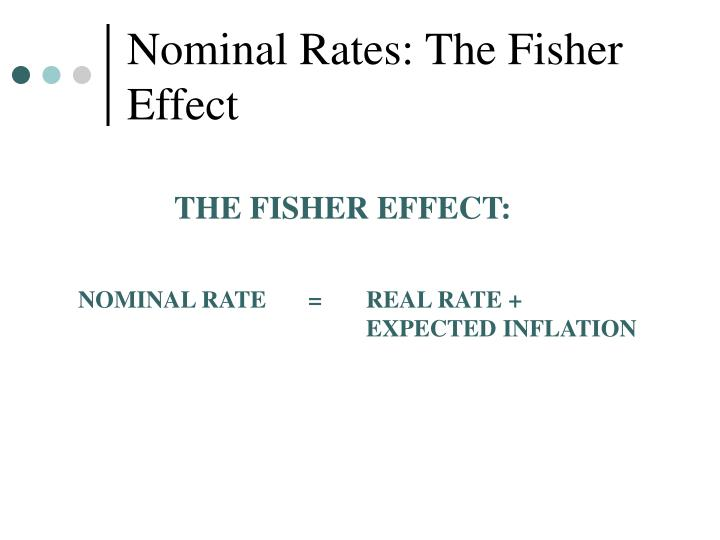 Nominal Rates: The Fisher Effect