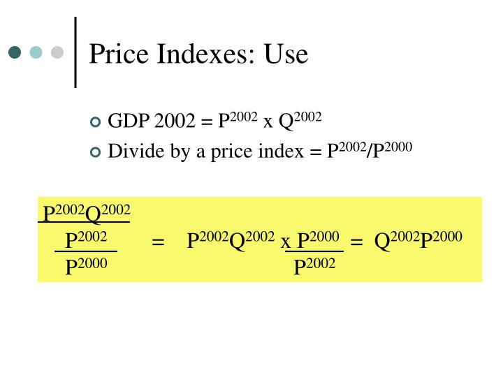 Price Indexes: Use