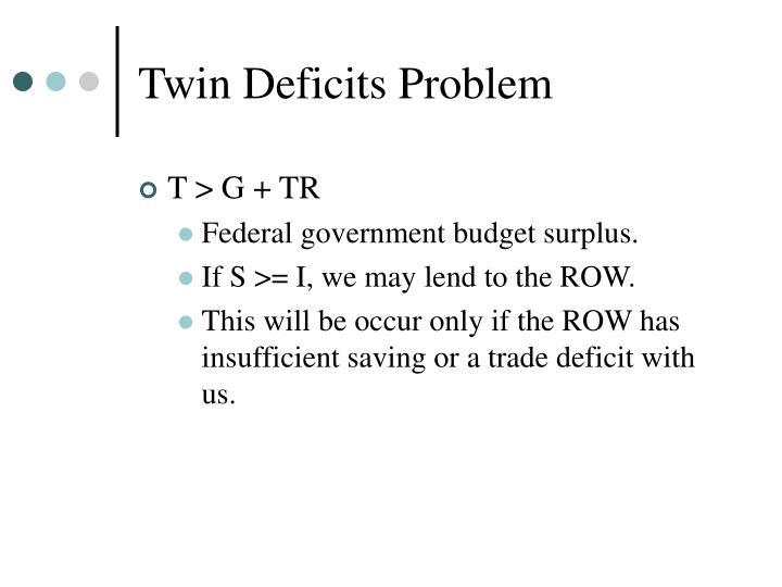 Twin Deficits Problem