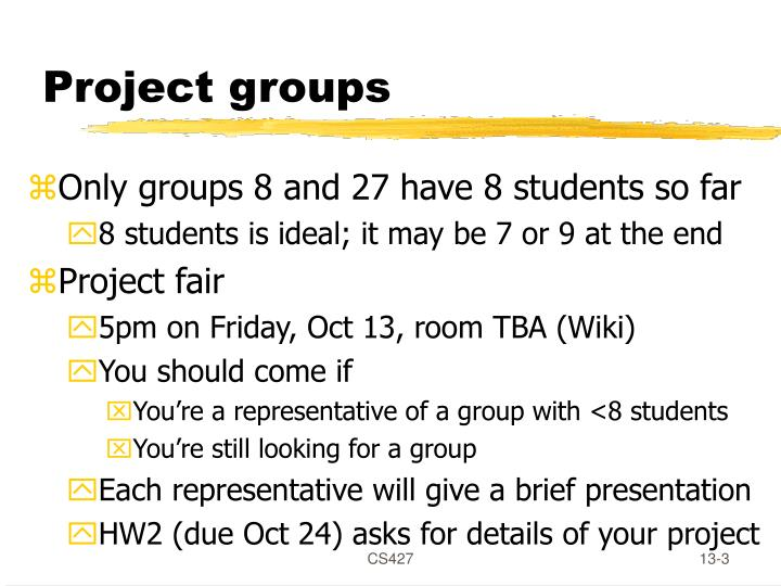 Project groups