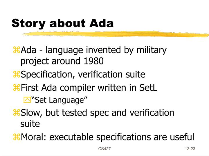 Story about Ada