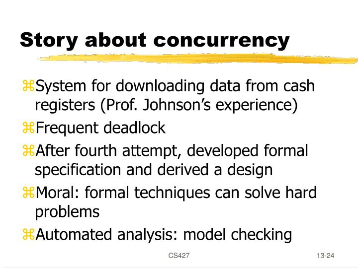 Story about concurrency
