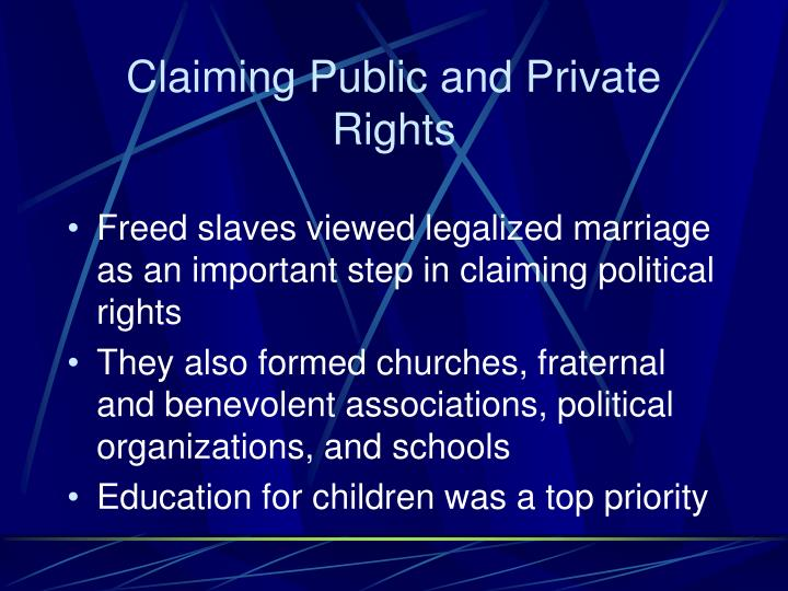 Claiming Public and Private Rights