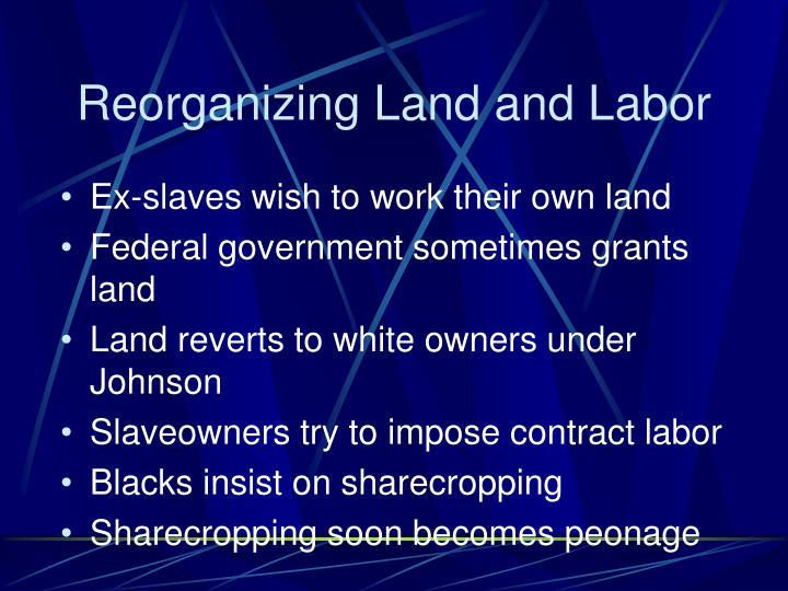 Reorganizing Land and Labor