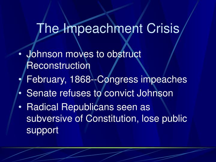 The Impeachment Crisis