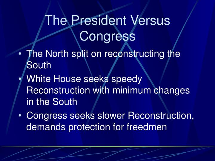 The president versus congress