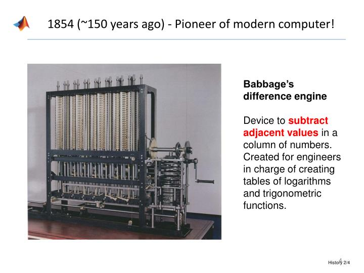 1854 (~150 years ago) - Pioneer of modern computer!