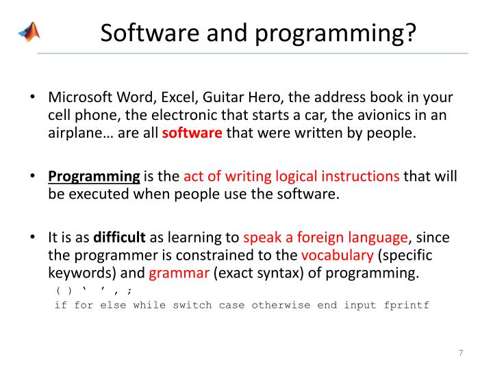 Software and programming?