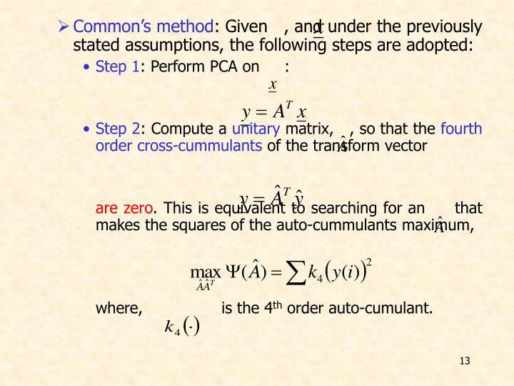 Common's method