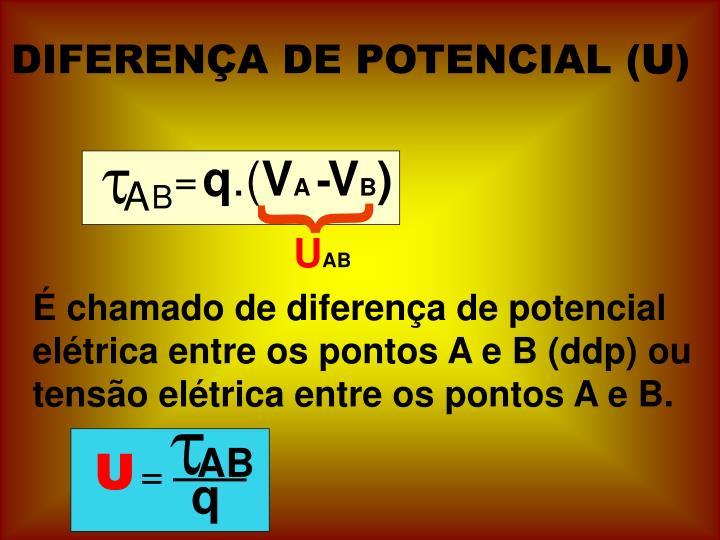 DIFERENÇA DE POTENCIAL (