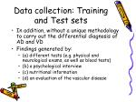 data collection training and test sets1