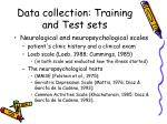 data collection training and test sets3