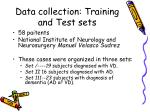 data collection training and test sets5