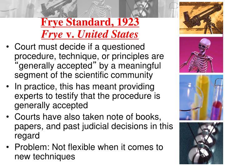 Frye Standard, 1923