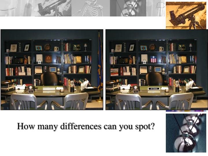 How many differences can you spot?