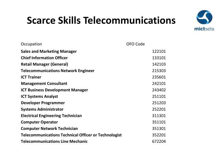 Scarce Skills