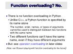 function overloading no