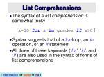 list comprehensions2
