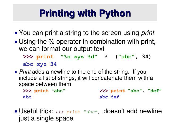 Printing with Python