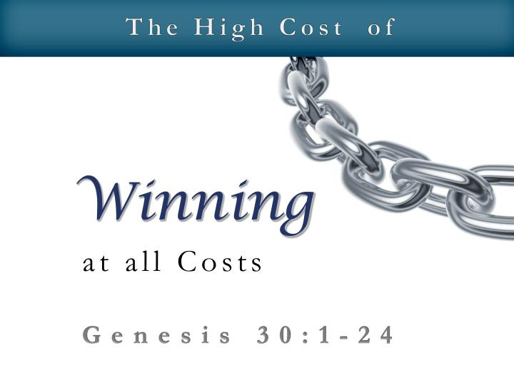 The High Cost  of