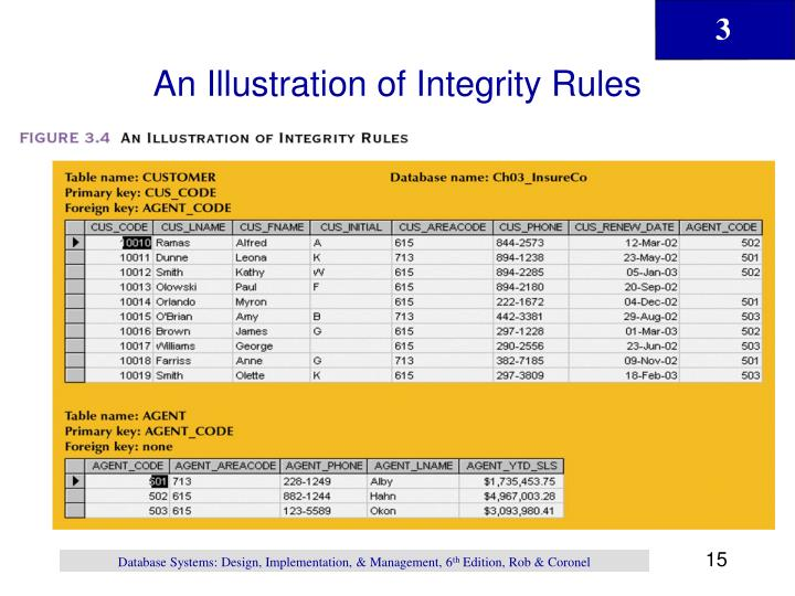 An Illustration of Integrity Rules