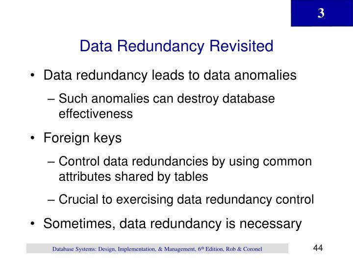 Data Redundancy Revisited
