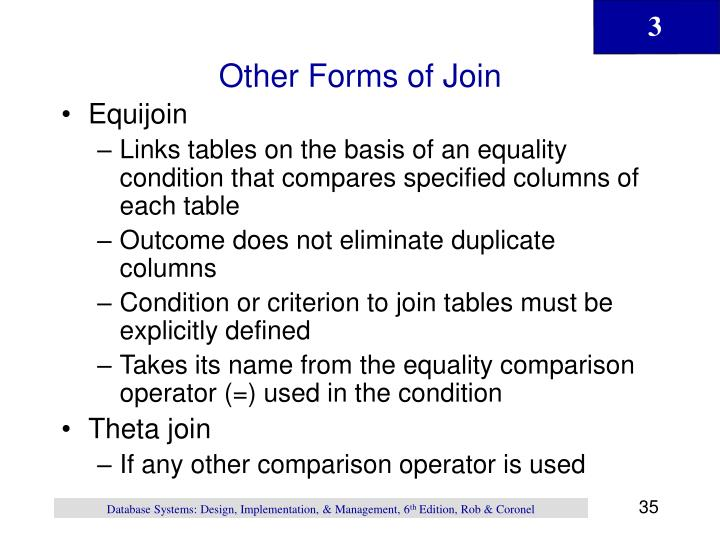 Other Forms of Join