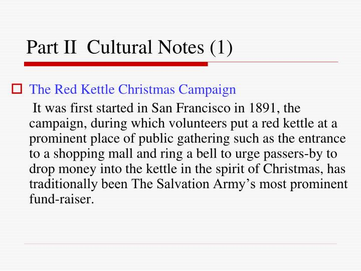 The Red Kettle Christmas Campaign