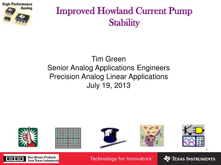 Improved howland current pump stability