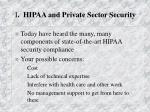 i hipaa and private sector security