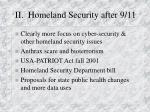 ii homeland security after 9 11
