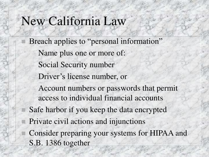 New California Law