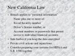 new california law
