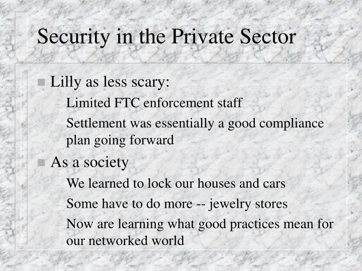 Security in the Private Sector