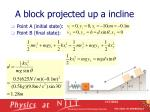 a block projected up a incline1