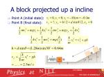 a block projected up a incline2