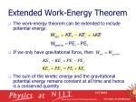 extended work energy theorem