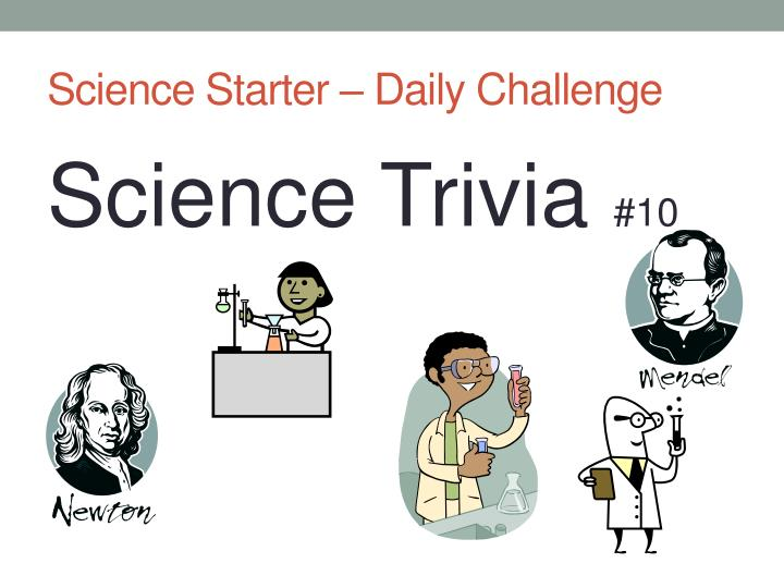 Science starter daily challenge