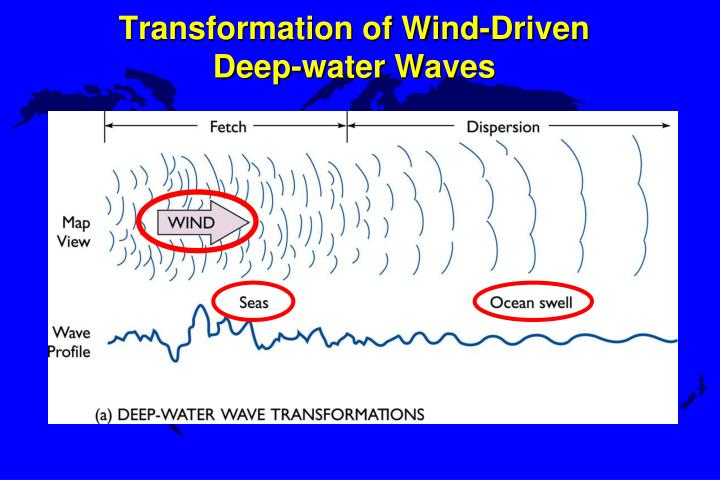 Transformation of wind driven deep water waves