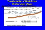 transformation of wind driven shallow water waves