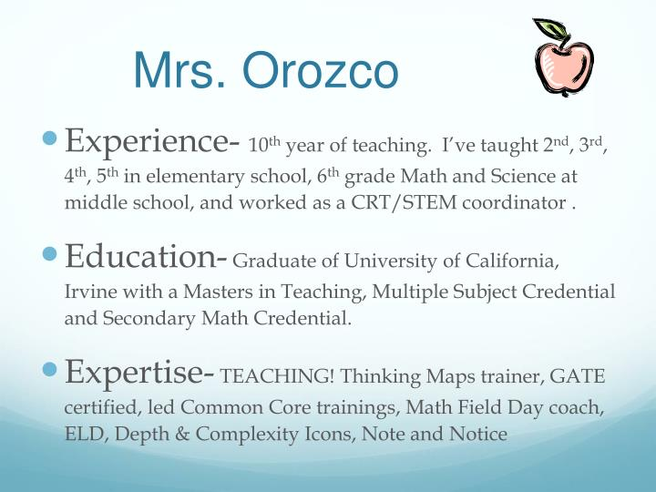 Mrs. Orozco