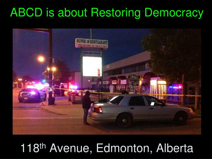 ABCD is about Restoring Democracy