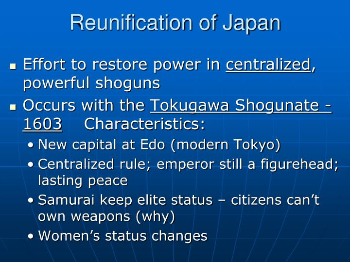 Reunification of Japan