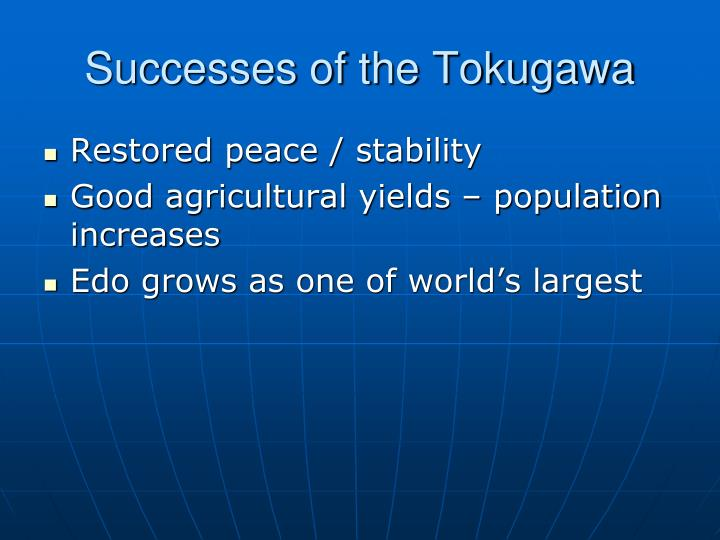 Successes of the Tokugawa