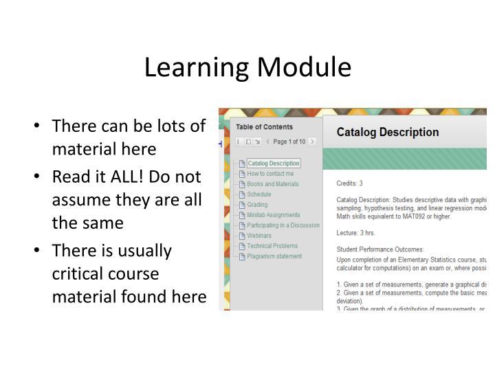 Learning Module