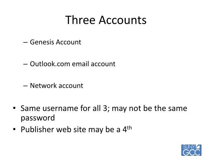 Three Accounts