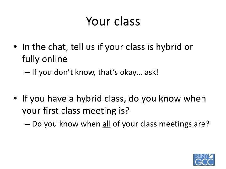 Your class