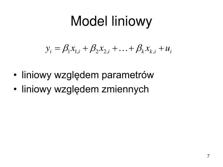 Model liniowy