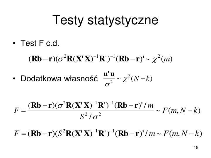 Testy statystyczne