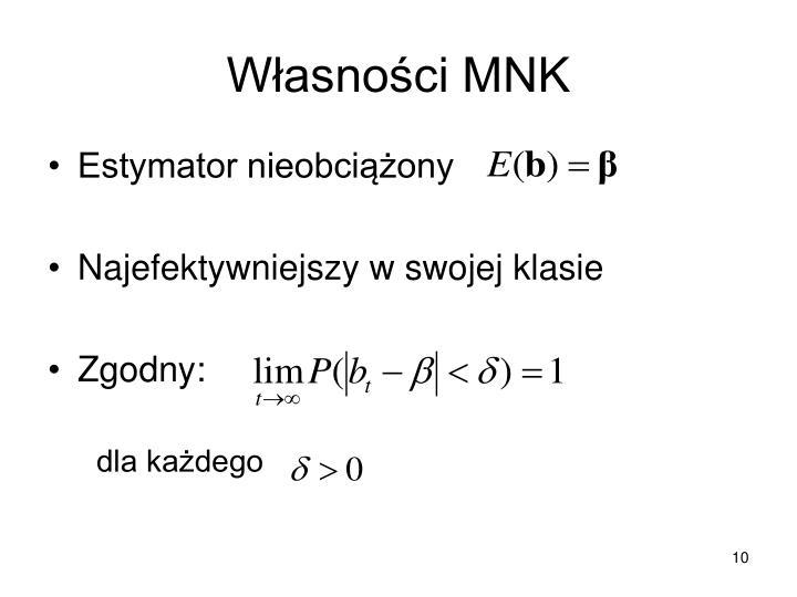 Własności MNK